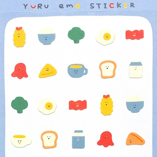 [씰] Q-LIA YURU EMO STICKER : The BREAKFAST