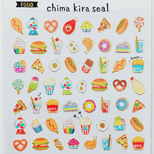 [씰] Chima kira seal : FOOD