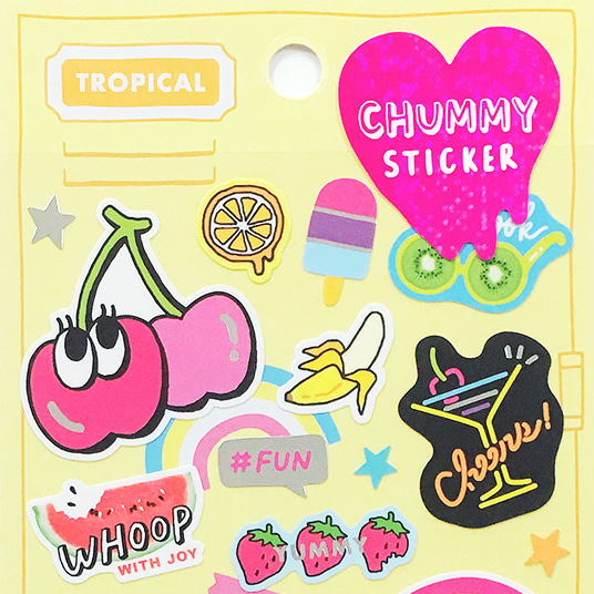 [씰] 마인드웨이브 CHUMMY STICKER : TROPICAL